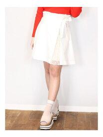 【SALE/56%OFF】dazzlin 【S】スリットプリーツダイケイスカート ダズリン スカート フレアスカート ホワイト イエロー ベージュ