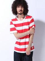 (M)ZIP FIVE クルーネックボーダーTee Tシャツ メンズ(5)