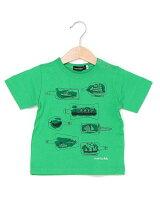 天竺ボトルシッププリント半袖Tシャツ