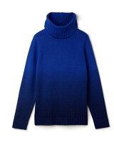 (W)タイダイタートルネックセーター
