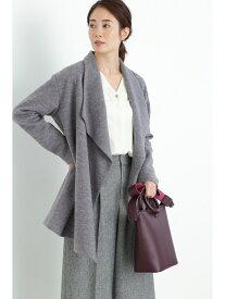 【SALE/64%OFF】BOSCH ドレープカラー羽織りニット ボッシュ コート/ジャケット テーラードジャケット グレー【送料無料】