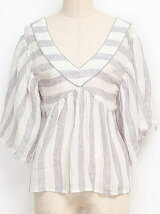 LINEN STRIPE BLOUSE