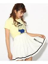 ガール刺繍プリントTシャツ