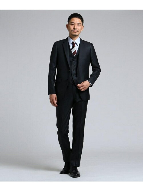cea336f1646c8 TAKEO KIKUCHI シャイニーストライプベスト[スリーピース撥水スリー ...