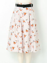 【sw】ベルト付フラワースカート
