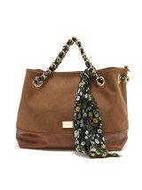 (W)VIVAYOU/スカーフを通したチェーンがキュートな2wayバッグ