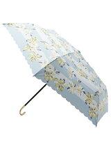 ボーダーフラワー折り畳み傘(晴雨兼用)