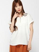 (L)フロントジップシャツ