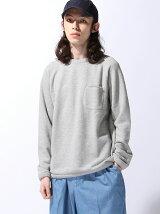 BEAMS / カラーネップ 裏毛スウェットシャツ グレー