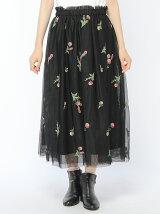 30th企画オリジナルフラワー刺繍チュールスカート
