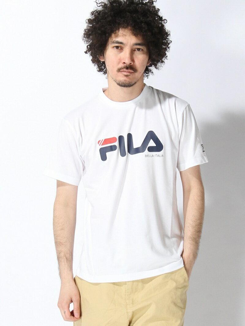 FILA (M)FILA T/C天竺 BigロゴTシャツ フィラ カットソー