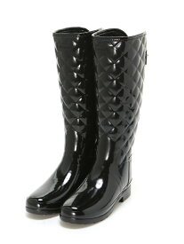 HUNTER (W)REFINED GLOSS QUILT TALL ハンター シューズ【送料無料】