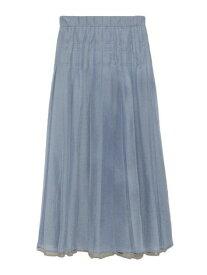 【SALE/30%OFF】SNIDEL シアーワイドプリーツSK スナイデル スカート プリーツスカート/ギャザースカート ブルー オレンジ パープル【送料無料】
