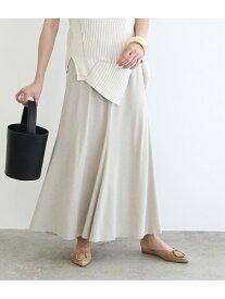 【SALE/60%OFF】ROPE' mademoiselle ドライジャージーヘムフレアスカート ロペ スカート スカートその他 ベージュ グリーン【送料無料】