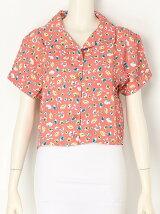 【dazzlin】 オープンカラーフラワーシャツ