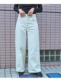 pocket pocket/〈web限定〉デニムワイドパンツ ティップトッププラスポケット パンツ/ジーンズ ジーンズその他 ホワイト ネイビー ブルー