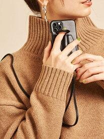 BEAUTY & YOUTH UNITED ARROWS 【WEB限定】∴<Hashibami>レザーダブルリングiPhone XR/11ケース -3WAY- ビューティ&ユース ユナイテッドアローズ ファッショングッズ 携帯ケース/アクセサリー ブラック シルバー グレー ホワイト【送料無料】