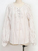 SMOCKING STRIPE BLOUSE