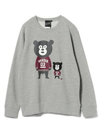 【SALE/30%OFF】BEAMS T 【SPECIAL PRICE】BEAMS T / Ivy Bears Crewneck Sweatshirt BEAMS ビームス ビームスT カットソー スウェット グレー ブラック【送料無料】