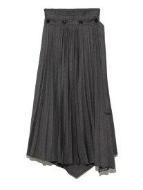 【SALE/45%OFF】SNIDEL プリーツレイヤードSK スナイデル スカート プリーツスカート/ギャザースカート ブラック ブルー【送料無料】