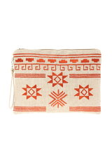ネイティブ刺繍クラッチバッグ