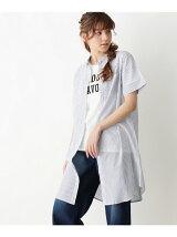 ロゴTシャツ+シャツワンピース