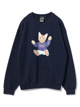 【SPECIAL PRICE】BEAMS T / NEKO Crewneck Sweatshirt BEAMS ビームス