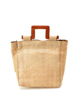 actuel/(W)【LE VERNIS】 Abaca Wood Tote