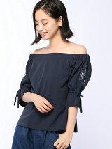【emsexcite】袖刺繍オフショルCT