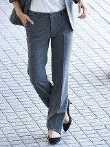 《スーツ対応》チェルビックミニヘリンボンフルレングスパンツ