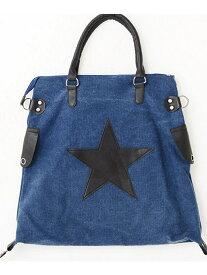 VICCI VICCI星柄ワッペン貼付けトートバッグ シルバーバレット バッグ