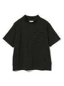 【SALE/50%OFF】BEAMS BOY BEAMS BOY / ハイネック ポケット ショートスリーブ Tシャツ ビームス ウイメン カットソー Tシャツ ブラック ホワイト レッド