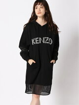 (W)Kenzo Sport Mesh Mix Hooded Dress
