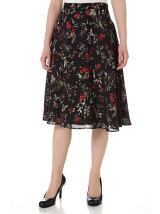 フラワープリントセットアップスカート