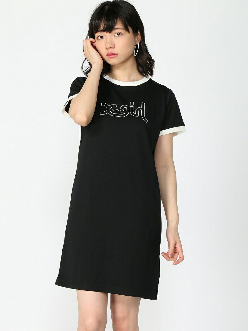 X-girl RINGER S/S TEE DRESS エックスガール ワンピース【送料無料】