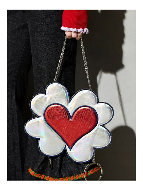 HEART FLOWER NECKLACE BAG