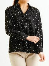 星柄スキッパーシャツ