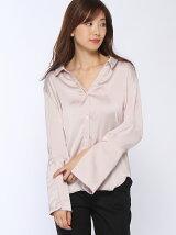 ピックカフスサテンシャツ