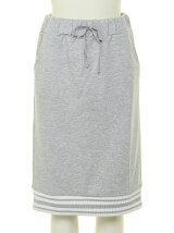 [アウトレット]ラインリブ裏毛スカート