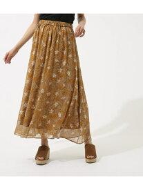 【SALE/70%OFF】AZUL by moussy 楊柳シフォンプリントギャザースカート アズールバイマウジー スカート スカートその他 オレンジ ブラック ホワイト