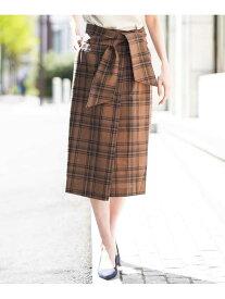 【SALE/60%OFF】a.v.v 【BARFOUT!7月号掲載商品】太サッシュナローチェックスカート アー・ヴェ・ヴェ スカート スカートその他 オレンジ