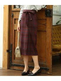 【SALE/30%OFF】【WEB限定】チェックジャガードリボンツキタイトスカート ビス スカート【RBA_S】【RBA_E】
