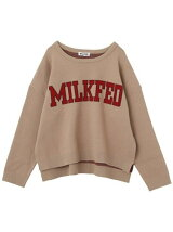 COLLEGE LOGO KNIT TOP