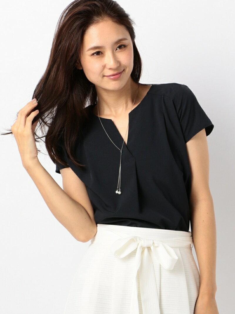 【SALE/20%OFF】MEW'S REFINED CLOTHES ネックレス付半袖ブラウス ミューズ リファインド クローズ シャツ/ブラウス【RBA_S】【RBA_E】【送料無料】