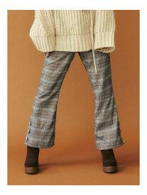dazzlin サイドスリットブーツカットパンツ ダズリン パンツ/ジーンズ パンツその他 ブラウン ベージュ【送料無料】