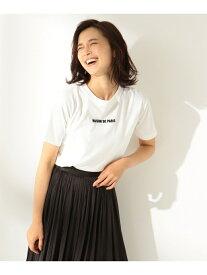 any FAM 【洗える】フロッキーロゴTシャツ エニィファム カットソー Tシャツ ホワイト グレー ブラック レッド