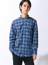 (M)NFコットンシャンブレーチェックシャツ
