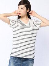 【WEGO】(L)リネンモダールVネックT(S)