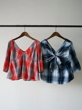 BACK RIBBON CHECK SHIRT