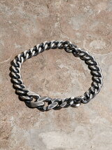 IDEALITE:OXIDIZED SILVER BRACLET WIDE:イデアライト シルバーブレスレット ワイド